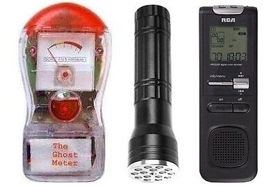NEW Ghost Meter EMF Detector + 3 in 1 Ghost Flashlight + Digital EVP Recorder on Rummage