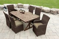 7 Piece Faux Wood Dining Set