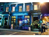 Bar staff needed. Full time and part time positions available at The Merchant