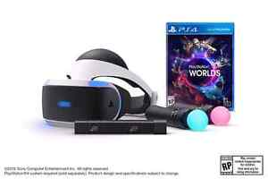 Playstation VR bundle pack with PS4 and games.