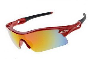 Red Positive Yellow Iridium Oakley Polished Sunglasses