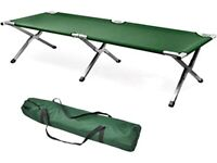 Camping bed folding