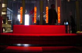 QTYx 5 Designer Full Moon LED Lights by Florence Jaffrain