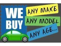 SCRAP CAR'S AND VAN'S WANTED ALL MAKES ALL MODELS