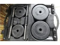 1x Box Of Lonsdale 15Kg Dumbbell Weights Sets - Bars & Plates