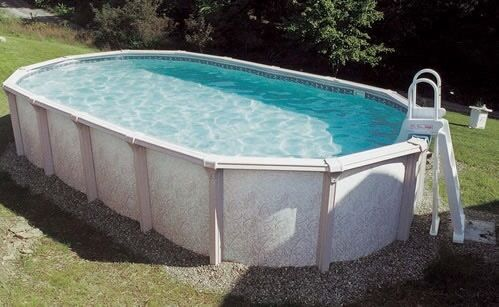 Doughboy 24ft X 12ft Above In Ground Swimming Pool In