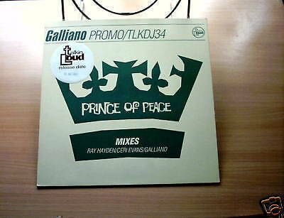 "GALLIANO - PRINCE OF PEACE - 12"" PROMO.STICKERED SL.'92"