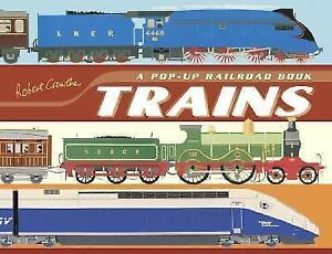 ▀▄▀Trains:A Pop-Up Railroad Book(unread, unused book)