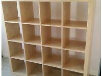 Ikea Kallax Expedit Shelving 16 Shelf Unit 4 x 4 Birch storage Hamilton