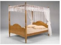 Four poster double and black drapes