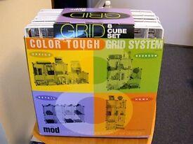wire storage grid modular cubes