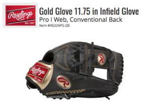 Rawlings Gold Glove 11.75 Infield Baseball Glove Pro - NEW
