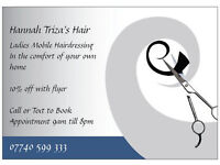 Mobile Hairdresser Manchester, Tameside and Stockport