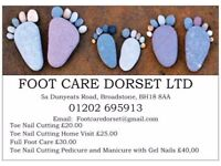 Toe Nail Cutting In your Home £25