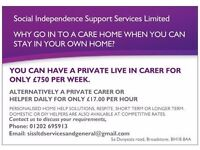PRIVATE LIVE IN CARER SUPPLIED TO YOU FOR £750 per week