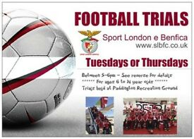 Youth Players Wanted for Sport London e Benfica - U6s to U15s - Especially U12-U14 Goalkeepers