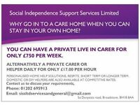 LIVE IN CARER SUPPLIED TO YOU ONLY £750 PER WEEK