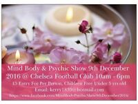 Stall Holders Wanted By This Friday - For My Mind Body & Psychic Show Chelsea Football Club