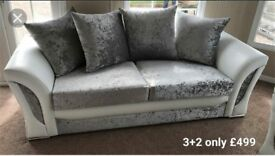 stunning Shannon velvet sofas With FREE FOOTSTOOL