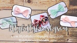 Handmade fabric bows and accessories