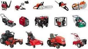 Get your yard equipment ready. Small engine repair services