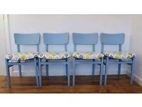 Retro Dining Chair Set