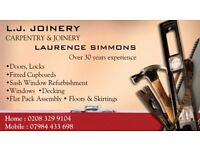 Specialist Carpenter and Joiner with over 30 years experience.