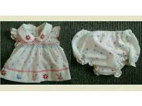 New born patterned dress with knickers