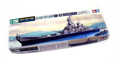 Tamiya Military Model 1/700 War Ship Battleship BB-63 MISSOURI Scale Hobby 31613