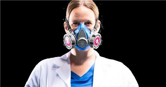 MSA Advantage 290 10217165 Half-Mask Respirator & 1 PR 815369 P100 Filter SMALL Business & Industrial