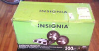 """12"""" Insignia subs and amp (brand new in box)"""
