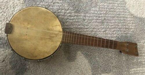 Vintage Concertone Banjo Ukulele Musical Instrument Banjolele Uke Decor antique