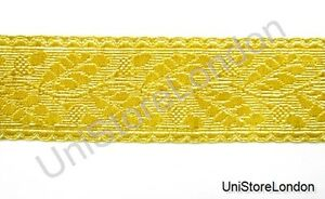Braid-General-s-Officer-s-Lace-Gold-Mylar-Oak-Leaf-58mm-Rank-Marking-Trim-R822