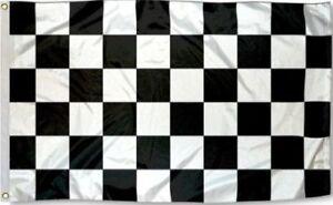 3x5 Checkered Racing Flag w/ Grommets ~ Black & White ~ Nascar Racecar Speedway