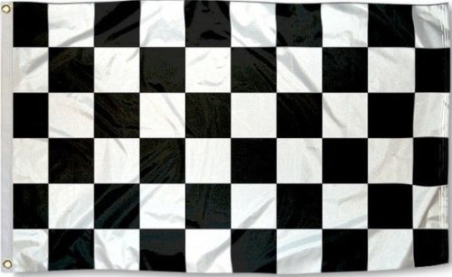 Checkered Flag 3x5 w/ Grommets - Black & White - Nascar Raci