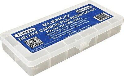 Elenco Rk-485-del Deluxe 485 Piece Carbon Film Resistor Set In Case-
