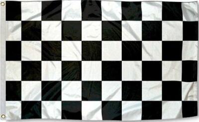 Race Car Checkered Flag (Checkered Flag 3x5 w/ Grommets - Black & White - Nascar Racing Race Car)