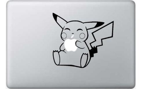 Pikachu Pokemon Apple Macbook Laptop Decal Sticker Skin Viny