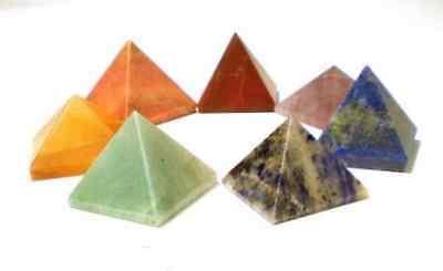 7 Chakra Chakren Pyramide Set Edelsteine  Energie L