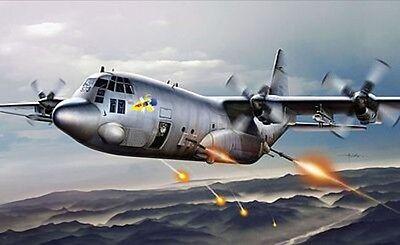 Italeri AC-130H Spectre - Plastic Model Airplane Kit - 1/72 Scale - #551310