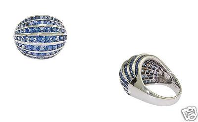 18k Wg Ladies 5.58ct Sapphire Cocktail Ring