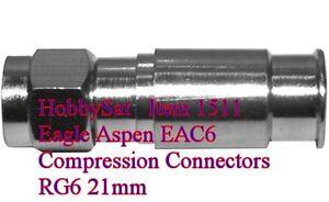 RG6 Eagle Aspen EAC6 compression 21mm connectors