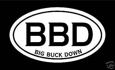 Big Buck Decal Sticker hunting archery deer