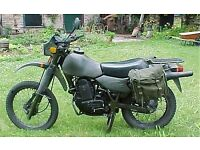 Ex military motorcycle panniers/side bags