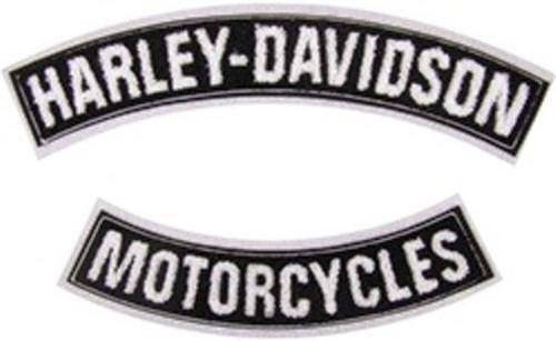 Biker Vest Patches >> Harley Davidson Rocker Patches | eBay