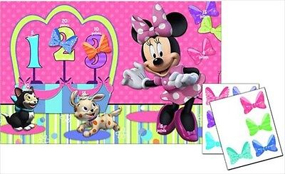 MINNIE MOUSE BOW-TIQUE PARTY GAME POSTER ~ Birthday Supplies Plastic - Minnie Mouse Birthday Games