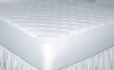 250 Thread Count Cotton Damask Stripe Mattress Pad Twin XL TXL Back to -