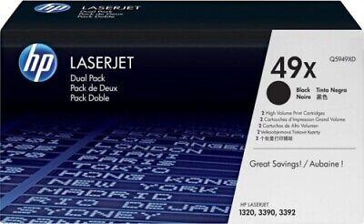 2x Original HP Toner 49X Q5949XD schwarz für LaserJet 1320 3390 3392 B-Ware