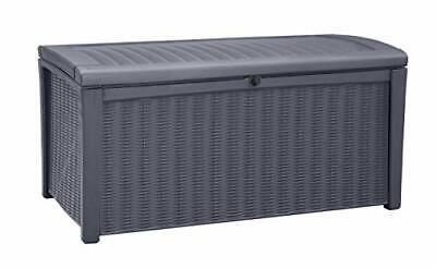 Keter Borneo Outdoor Plastic Storage Box Garden Furniture, 129.5 x 70 x 62.5 cm