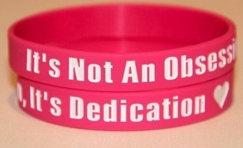 dedication/' pink wristband bracelet *SAME DAY POST ONE DIRECTION 1D /'Obsession